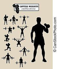 weightlifter, silhuetas