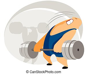Weightlifter with barbell