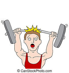 Weightlifting Accident - An image of a weightlifting...