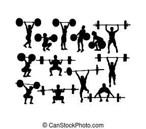 Weightlifting and Bodybuilding Silhouettes