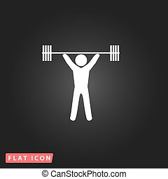 Weightlifting flat icon