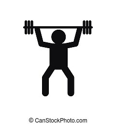 Weightlifting icon in simple style