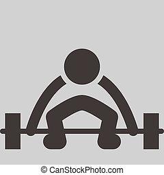 weightlifting, icono
