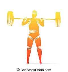 weightlifting, jugador, diseño