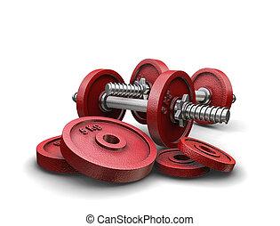 weightlifting, pesos