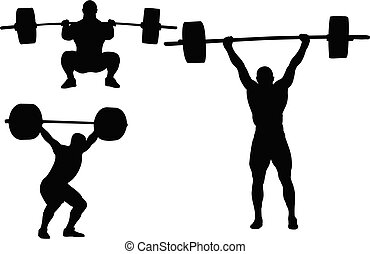 weightlifting silhouettes
