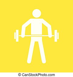 Weightlifting Sport Figure Symbol Vector Illustration Graphic