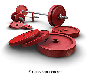 Weightlifting weights - 3D render of weightlifting weights