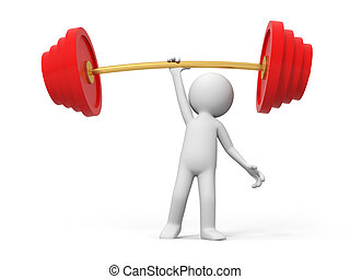 Weightlifting, win - A people lift the weight