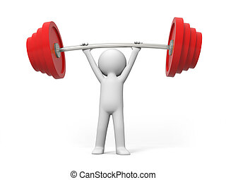 Weightlifting - Win,A people lift the weight