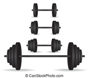 Weights black collection illustration