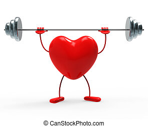 Weights Fitness Indicates Heart Shapes And Exercise - Heart...