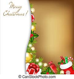 weihnachten, abbildung, weinlese