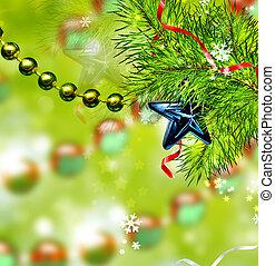 weihnachten, abstrakt, hintergrund, von, weihnachten, toys.