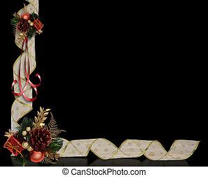 weihnachten, bänder, umrandungen