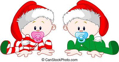 weihnachten, babys