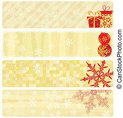 weihnachten, banner, collection.
