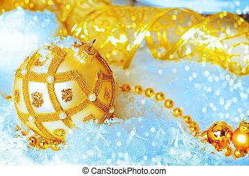 weihnachten - Beautiful Christmas background: golden...