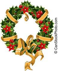 weihnachten, beere, verschönerung