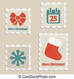weihnachten, briefmarken