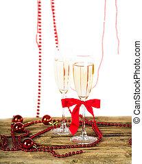 weihnachten, champagner