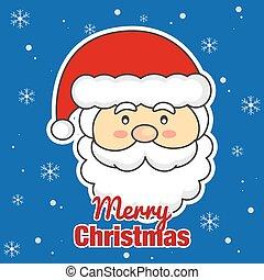 weihnachten., claus, fröhlich, santa