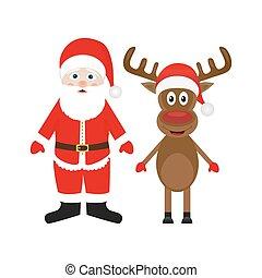 weihnachten, claus, rentier, santa