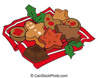 Weihnachtsgebäck Clipart.Weihnachtsgebäck Vektor Clip Art Illustrationen 15 918