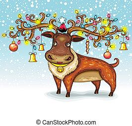 weihnachten, deer.