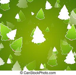 weihnachten, design, bäume, abbildung