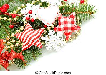 weihnachten, design, hintergrund, mit, dekorationen