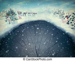 weihnachten, design, -, weihnachten, tal