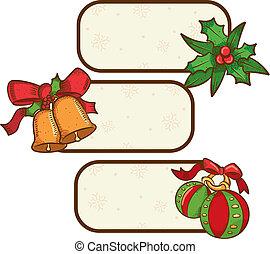 weihnachten, etikett
