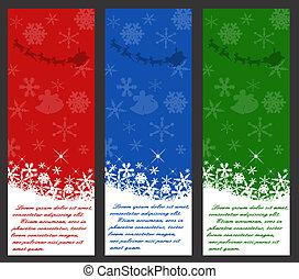 weihnachten, etikett, satz