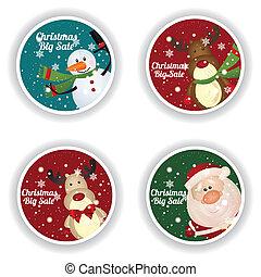 weihnachten, etiketten