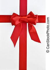 weihnachten, feiertag, geschenkschachtel, und, schleife