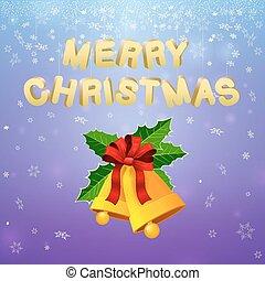 weihnachten, fröhlich, glocken