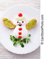 weihnachten, fruehstueck, kind