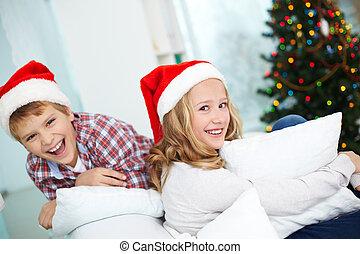 weihnachten, geschwister