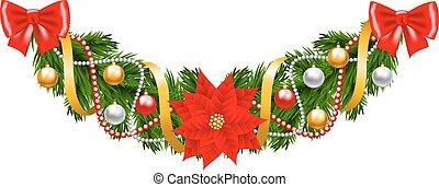 clipart vektor von weihnachtsgirlande glocken girlande. Black Bedroom Furniture Sets. Home Design Ideas