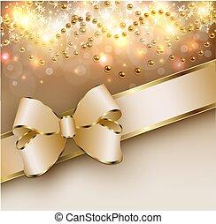 weihnachten, gold, lichter, hintergrund