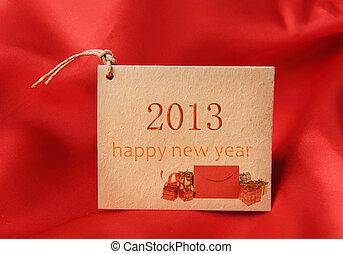 weihnachten, grüßen karte, mit, 2013