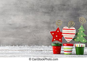 weihnachten, gruß, card.
