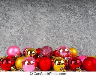 weihnachten, hintergrund, banner, für, website, mit, weihnachten, spielzeuge