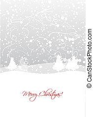 weihnachten, hintergrund, für, dein, design