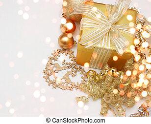 weihnachten, hintergrund, geschenk
