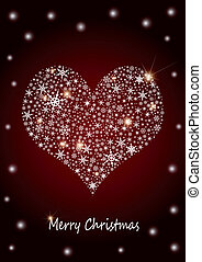 """weihnachten, hintergrund, """"heart"""""""