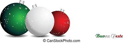 weihnachten, hintergrund, italienesche