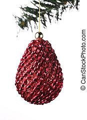 weihnachten, hintergrund, kiefer- kegel, kugel