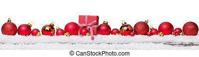 weihnachten, hintergrund, mit, dekorationen, und, geschenkschachtel, freigestellt